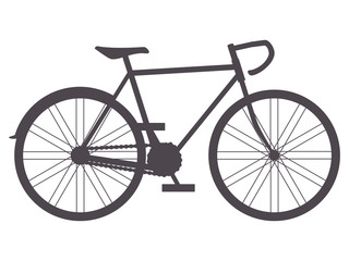 Bike silhouette , vector illustration, isolated