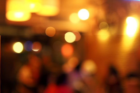 bokeh background in coffee cafe shop