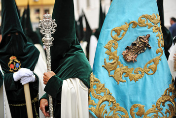 Holy Week procession, nazarenes, Seville, Spain