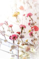 hang Flower arrangement at the wedding