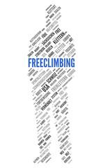 FREECLIMBING   Modern Konzept Word Tag Cloud