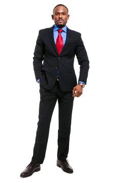 African business man full length