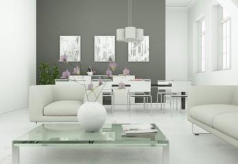 modernes Loft Interieur Design