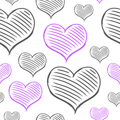 vector repeated valentine pattern
