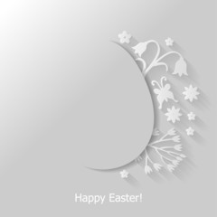 Easter flat background with decorative egg