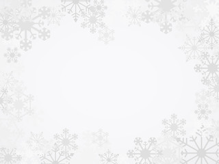 Vector Winter Snowflake Background