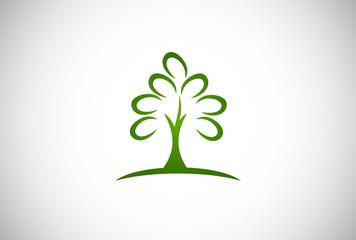tree abstract vector logo
