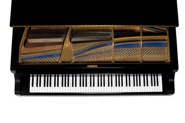 Grand Piano Viewed from Above - Isolated