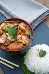 Panang Chicken curry, Thailande