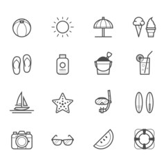 Summer Icons and Beach Icons