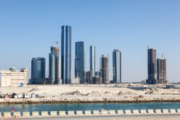 Skyline of the Al Reem Island in Abu Dhabi, UAE
