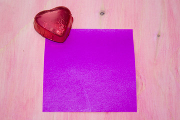 valentines card with candies