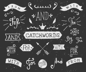 Hand Drawn Chalkboard Catchwords