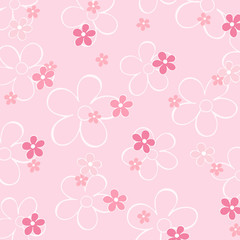 Blumenmuster rosa Hintergrund
