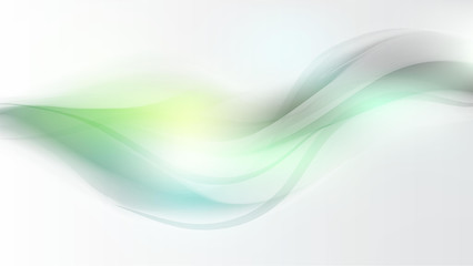 green wave abstract background flow soft light sky pastel
