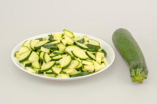 zucchini whole and chopped