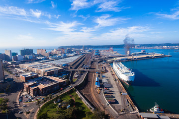 Durban Harbor Port Air Landscape Wall mural