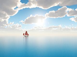 Segelschiff in der Ferne