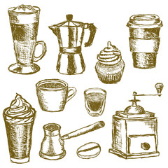 doodle coffee images