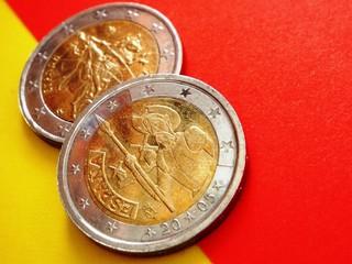 2-Euro-Münzen: Spanien und Europa