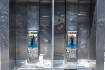 typical payphone in new york city