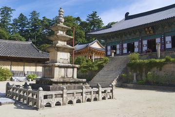 Beautiful Haeinsa temple exterior, South Korea.