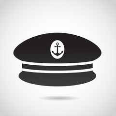 Capitan's hat vector icon.