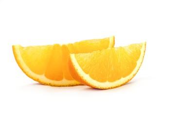 frisch aufgeschnittene Orangenscheiben