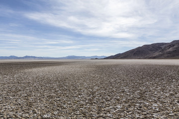Zzyzx Dry Lake in the Mojave Desert