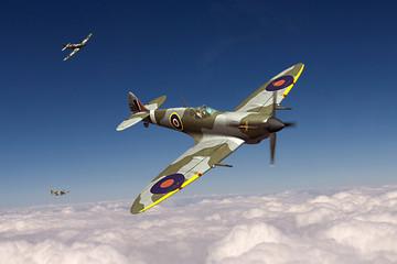 Obraz Samolot Spitfire - fototapety do salonu