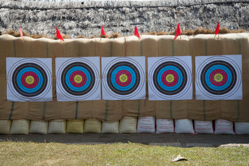 archery and arrow target