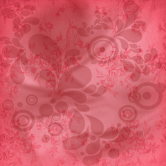 Celebrations - Pink Background With Flowers And Leaves Patterns