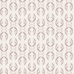 Seamless pattern. Vertical strips of vegetable and floral