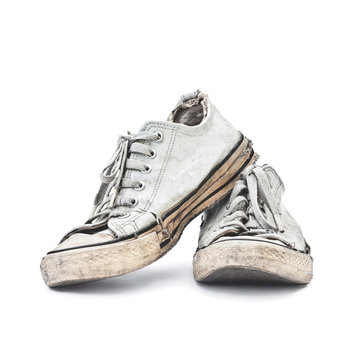 old white sneakers