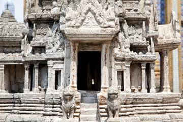 Printed kitchen splashbacks Place of worship Stone temple model design