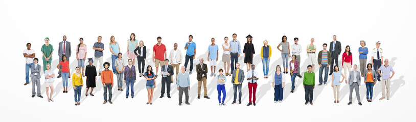 Diverse Large Group People Multiethnic Group Community