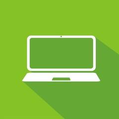 Icono portátil verde sombra