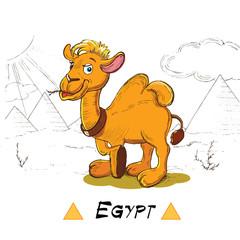 hand drawn funny camel