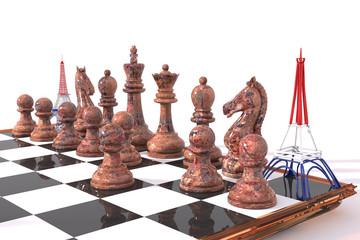 Torre Eiffel 3D sostituisce torre nel gioco scacchi