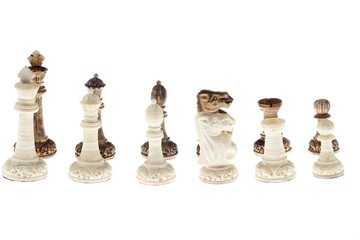 a row of chess piece