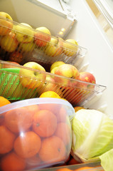 fridge with fruits