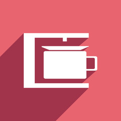 Flat Icon of coffee maker