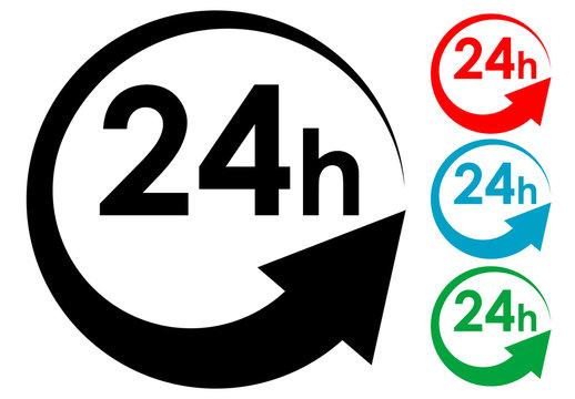Logotipo 24h en varios colores