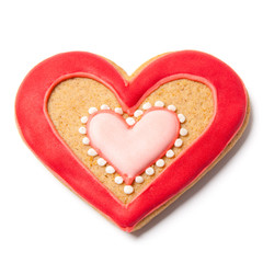 Valentines Gingerbread - Stock Photo