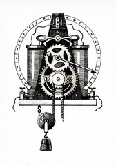 Receiver of Wheatstone electric telegraph, 1840