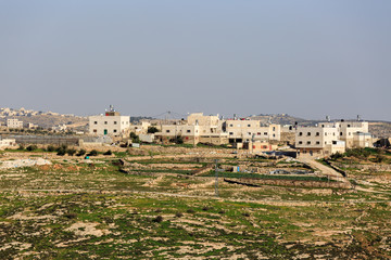 Houses in palestinian village