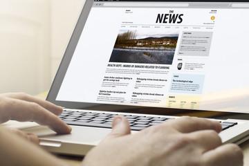 news on a computer
