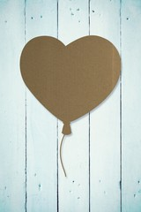 Wall Mural - Composite image of heart balloon