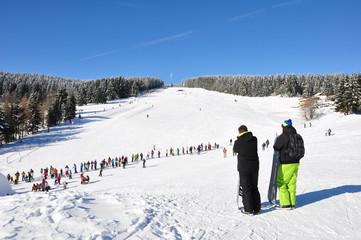 Skihang bei Schmiedefeld am Rennsteig / Thüringen