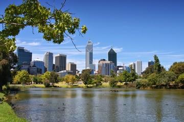 Perth skyline in Australia